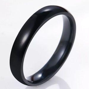 NEW Solid Black Men's Fashion Ring sz 12